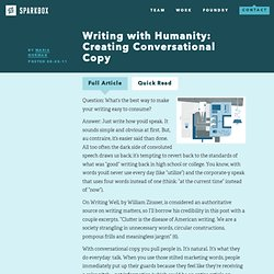 Writing with Humanity: Creating Conversational Copy