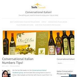 Conversational Italian Numbers Tips!
