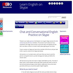 Learn English on Skype - Speak English - Chat and Conversational English Practice