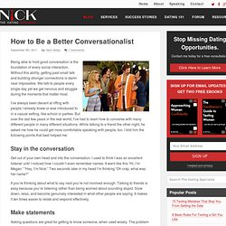 Be a Better Conversationalist