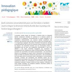 Quels scénarios conversationnels pour une formation e-tandem visant à intégrer la dimension (inter)culturelle dans la pratique de l'oral en langue étrangère ?