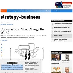 Conversations That Change the World
