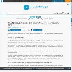 Transformez vos formulaires en conversations avec Conversational Form