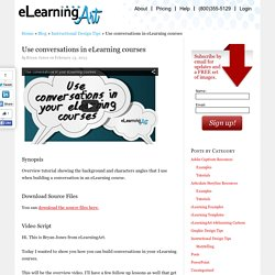 Use conversations in eLearning courses