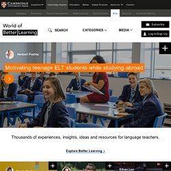 All things ELT from Cambridge EnglishCambridge Conversations