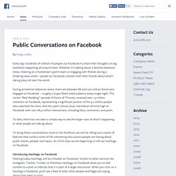 Public Conversations on Facebook