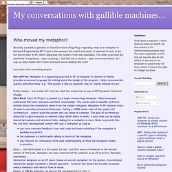 My conversations with gullible machines...: Who moved my metaphor?