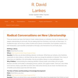 Radical Conversations on New Librarianship