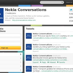 Nokia Conversations (nokconv) on Twitter