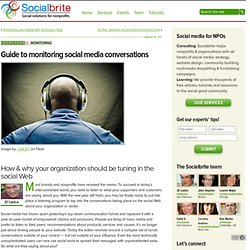 Guide to monitoring social media conversations