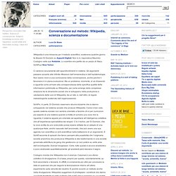 Wikipedia, scienza e documentazione