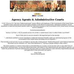 Agency Conversion, Administrative Courts