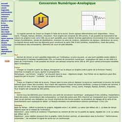 Conversion Numérique-Analogique