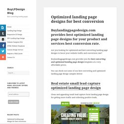 Optimized landing page designs for best conversion