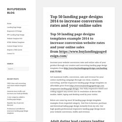 Top 50 landing page designs 2014 to increase conversion rates and your online sales