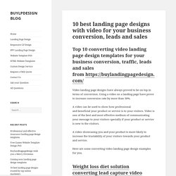 10 best landing page designs with video for your business conversion, leads and sales