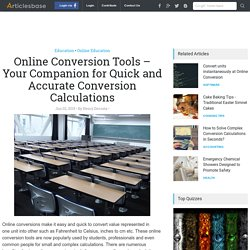 Online Conversion Tools – Your Companion for Quick and Accurate Conversion Calculations