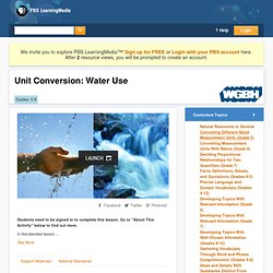 Unit Conversion: Water Use