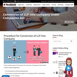 Conversion of LLP into Company under Companies Act