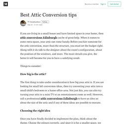 Best Attic Conversion tips - TT Construction - Medium