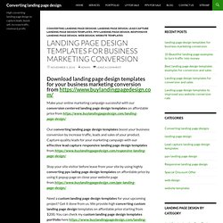 landing page design templates for business marketing conversion