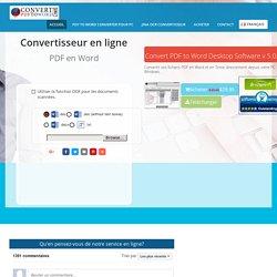 Convertir fichier pdf en word - Conversion pdf en word - convertir en ligne pdf en doc