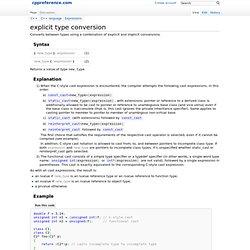 C++ casting operators