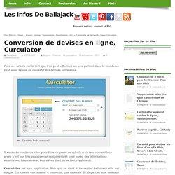 Conversion de devises en ligne, Curculator