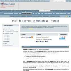Outil de conversion Datastage - Talend