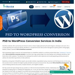 PSD to WordPress Conversion in India