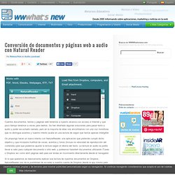 Conversión de documentos y páginas web a audio con Natural Reader