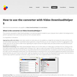 Video conversion with DownloadHelper