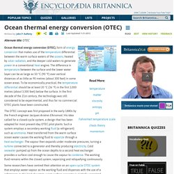 Ocean Thermal Energy Conversion (OTEC)