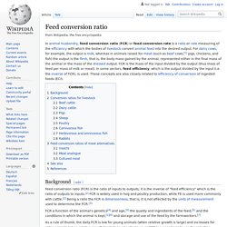 Feed conversion ratio