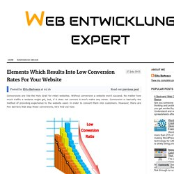 Elements Which Results Into Low Conversion Rates For Your Website