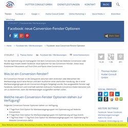 neue Conversion-Fenster Optionen
