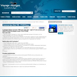 Passerelle PADI Open Water avec le Niveau 1 FFESSM sur Voyage-plongee.com
