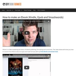 How to make an ebook (Kindle and epub conversion) DIY Book Design & Formatting Templates