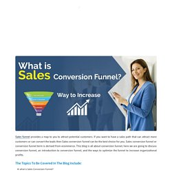 What is Sales Conversion Funnel? Ways to Increase Sales Conversion Funnel