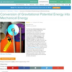 Conversion of Gravitational Potential Energy into Mechanical Energy Experiment