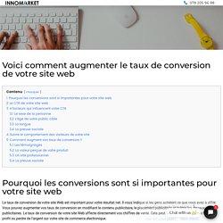 ▷ Augmenter le taux de conversion de votre site web