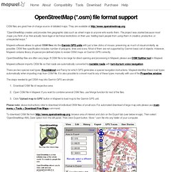 Conversion of OpenStreetMap OSM files to IMG files compatible with Garmin GPS