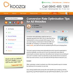 Conversion Rate Optimisation Tips for All Websites