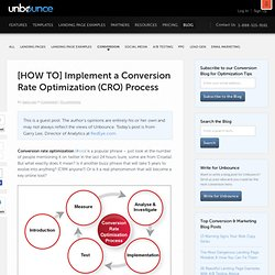 [HOW TO] Implement a Conversion Rate Optimization (CRO) Process
