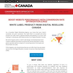 CONVERSION RATE OPTIMIZATION - Digital Resellers Canada