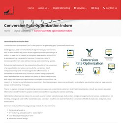 Conversion Rate Optimization Company and Agency in Indore