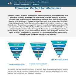 Conversion Content for eCommerce, Product Page Optimization