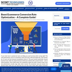 Earn more online with Ecommerce Conversion Rate Optimization - Skynet Technologies