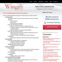 Online marketing blueprint to get more customers « Wingify Conversion Optimization Blog