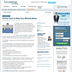 33 Free Tools to Make Your Website Better | FutureNow's Gro